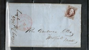 USA #1 Used Fine On Cover To Westfield MASS With Red Providence RI CDS Cancel