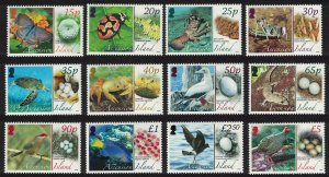 Ascension Birds Butterflies Fauna and their Eggs 12v 2007 MNH SG#987-998
