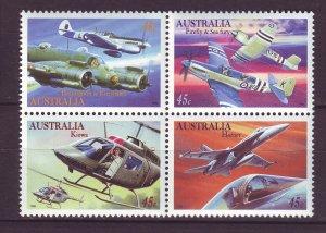 J24223 JLstamps 1996 australia set mnh #1484a airplanes