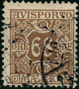 Denmark 1907 Scott P7 Fine Cat $40 Grab a Bargain!