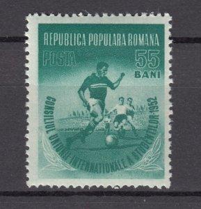 J27563 1952 romania part of set mh #906 sports