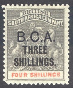 Nyasaland BCA 1893 3s on 4s Grey & Verm SG 18 Scott 18 LMM/MLH Cat £375($484)