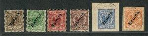 German Dominion Samoa Sc#51-56 Used/VF, High Values Signed, Cv. $252.50