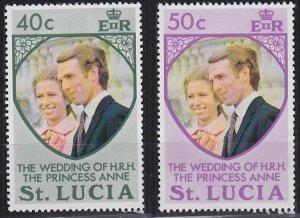 Saint Lucia 349-350 MNH (1973)