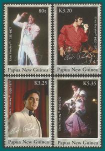 Papua New Guinea 2006 Elvis Presley, MNH  #1235-1238,SG1146-SG1149