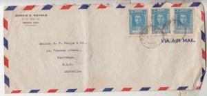 TEHERAN, 1947 Airmail cover to Australia via Baghdad, 5r. (3).