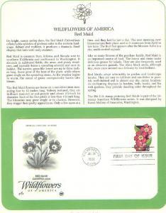 Flower-Red Maid, FDC's (USHFDC2692)