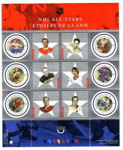 Canada Sc 1885 2001  NHL All Stars stamp souvenir sheet mint NH