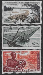 FRENCH EQUATORIAL AFRICA SC# C39-41  FVF/U    1955