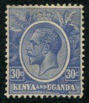 Kenya & Uganda SC# 26 (SG# 84) King George V, 30c M no gum