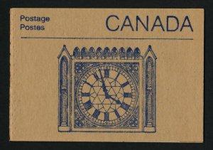 Canada 1187a Booklet BK96a Clock Cover MNH Parliament Buildings