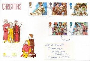 1994 Sg 1843/7 Christmas Stuart First Day Cover Preston Cancellation