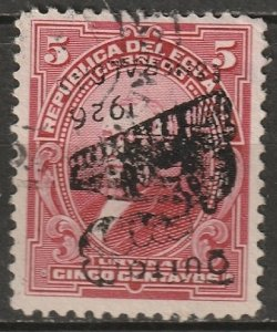 Ecuador 1926 Sc 264 used inverted overprint