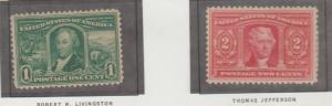 U.S. Scott #323-324 Louisiana Purchase Stamp - Mint Set of 2