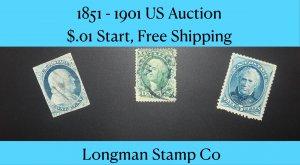 1851-1901 US Classics. $01. Start, FREE SHIP!