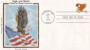 1992, Eagle & Shield, Colorano Silk, FDC (E12269)