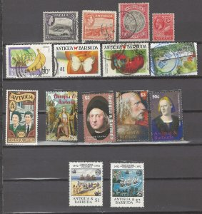 COLLECTION LOT # 3067 ANTIGUA 15 ALL CONDITIONS STAMPS 1921+ CV+$20
