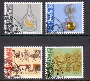 Switzerland 1993 cancelled pro patria folk art complete