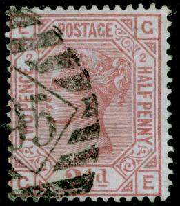 SG139, 2½d rosy mauve plate 2, USED. Cat £120. WMK ANCHOR. GE