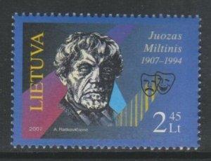 2007 Lithuania 943 100 years of Juozas Miltinis