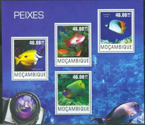 Mozambique MNH S/S Colorful Fish 2014
