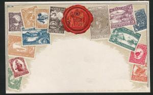 New Zealand Zieher embossed OZ stampcard No.59.