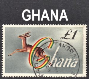 Ghana Scott 97 F to VF postally used. Key issue.