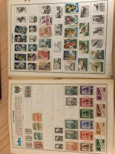 Collection of San Marino stamps from huge Harris albums