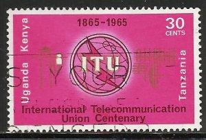 Kenya, Uganda & Tanzania 1965 Scott# 152 Used