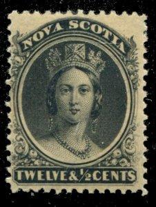 Nova Scotia #13 SG 17 MH F/VF 12 & 1/2c Queen Victoria [N4465] CV=$40.00