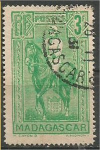 MADAGASCAR, 1931, used 3fr, Galliéni Scott 176
