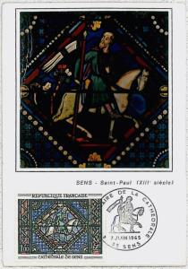 32662   MAXIMUM CARD - STAINED WINDOWS / glas - ART religion : FRANCE 1965