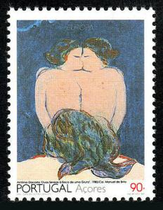 Portugal Azores 414, MNH. Europa. Two Mermaids at the Entrance to a Cave, 1993