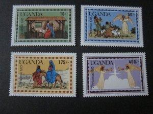 Uganda 1983 Sc 395-8 Christmas Religion set MNH