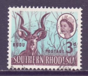 Southern Rhodesia Scott 98 - SG95, 1953 Elizabeth II 3d used