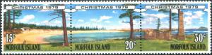 Norfolk Island 1979 SG230-232 Christmas views strip MNH