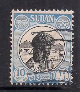 Sudan 1951 - 61 10 mms Hadendowa SG 128 used stamp ( L774 )