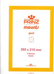 Prinz Scott Stamp Mount 215 / 265 BLACK Background Pack of 5