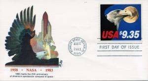 U.S. Scott 1909 Eagle and Moon FDC