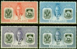 Nyasaland 1951 Diamond Jubilee Set of 4 SG167-170 Fine Mtd Mint