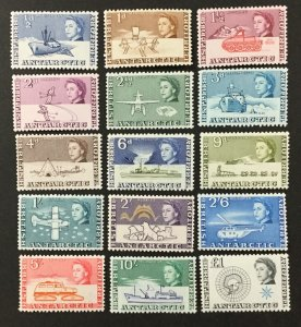 BRITISH ANTARCTIC TERRITORY #1-15, 1963 set of 15. F-VF, MH. CV $172.15. (BJS)