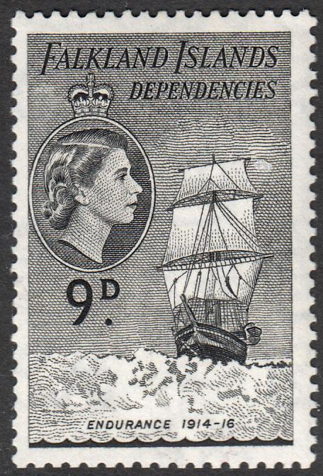 Falkland Island Dependencies QEII 1954 9d Black SGG34 Mint Never Hinged MNH UMM