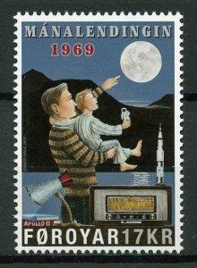 Faroe Islands Faroes Space Stamps 2019 MNH Apollo 11 Moon Landing 1v Set