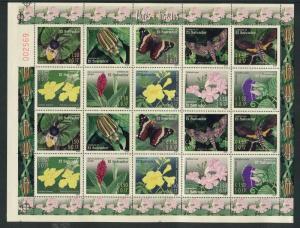 Salvador 1587-1588, MNH, Insects Butterflies 2003. x28348