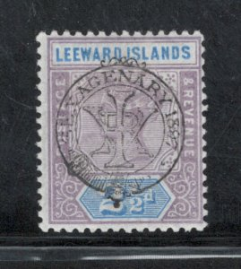 Leeward Islands 1897 Jubilee 2 1/2p Scott # 11 MH