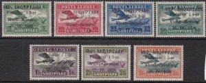 ALBENIA ^^^^^1928 RARER  YT# PA15-19  mint LH  AIRPOSTS set $352.00@ ta 904alb