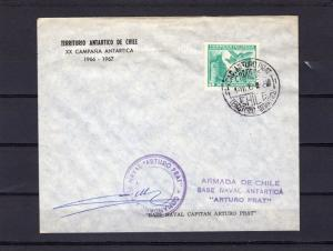 Chile 1966 Antartic Territory of Chile Base Arturo Prat signed by the Comander
