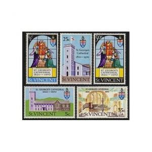 St Vincent 303-307,MNH.Michel 282-286. St George's Anglican Cathedral,1970.