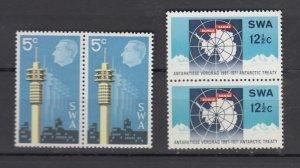 J25926  jlstamps 1971 south west africa set pair  mnh #333-4