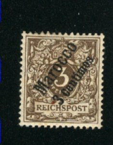Germany Offices in Morocco #1   -1   Mint VF 1899  PD